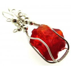 Dragons Blood Andara Sterling Silver Wire Wrapped Pendant 463