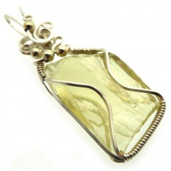 Lemurian Gold Andara Silver Filled Wire Wrapped Pendant 431