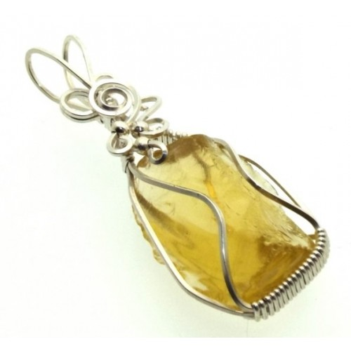 Avalon Sunset Andara Silver Filled Wire Wrapped Pendant 08
