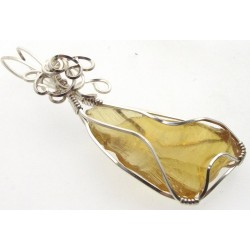 Avalon Sunset Andara Silver Plated Wire Wrapped Pendant 01