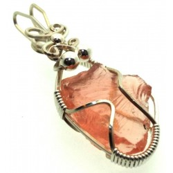 Venus Andara Silver Plated Wire Wrapped Pendant 266