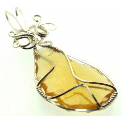 Avalon Sunset Andara Silver Plated Wire Wrapped Pendant 283