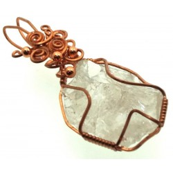 Cosmic Ice Andara Copper Wire Wrapped Pendant 331