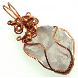 Cosmic Ice Andara Copper Wire Wrapped Pendant 332
