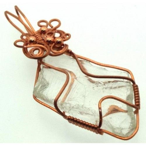 Cosmic Ice Andara Copper Wire Wrapped Pendant 339
