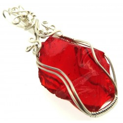 Dragons Blood Andara Sterling Silver Wire Wrapped Pendant 477