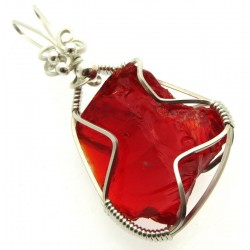 Dragons Blood Andara Sterling Silver Wire Wrapped Pendant 478