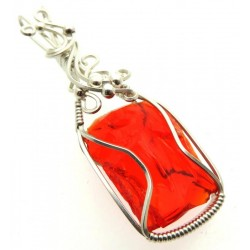 Dragons Blood Andara Sterling Silver Wire Wrapped Pendant 479
