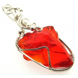 Dragons Blood Andara Sterling Silver Wire Wrapped Pendant 481