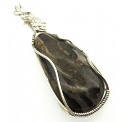 Rock Suji Kelsi Sterling Silver Wire Wrapped Pendant 02