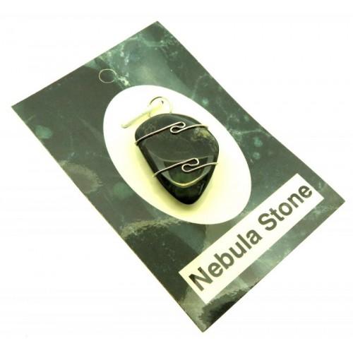 Nebula Stone Gemstone Sterling Silver Wire Wrapped Pendant