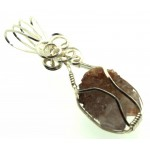 Cactus Quartz Silver Filled Wire Wrapped Pendant 07