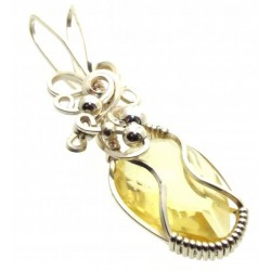 Citrine Wrapped Pendant Design 2