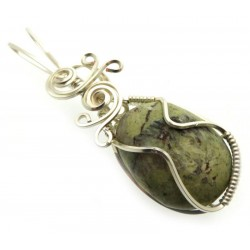 Connemara Marble Silver Plated Wire Wrapped Pendant 05