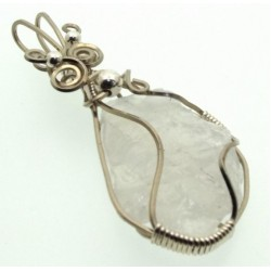 Indian Moonstone Wrapped Pendant Design 6