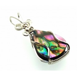 Paua Shell Wrapped Pendant Design 4