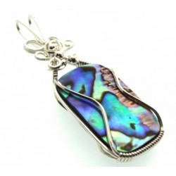 Paua Shell Wrapped Pendant Design 9