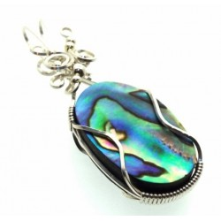 Paua Shell Wrapped Pendant Design 11