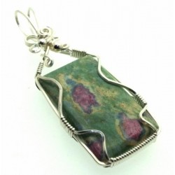 Ruby In Fuchsite Wire Wrapped Pendant Design 2