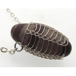 Shiva Lingam Wire Wrapped Pendant Design 1