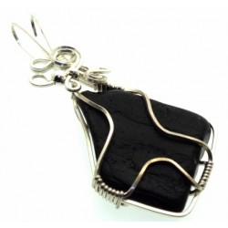 Whitby Jet Wire Wrapped Pendant Design 2