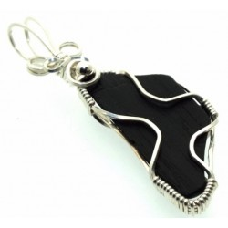 Whitby Jet Wire Wrapped Pendant Design 3