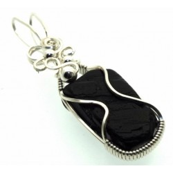 Whitby Jet Wire Wrapped Pendant Design 5