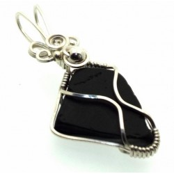 Whitby Jet Wire Wrapped Pendant Design 6