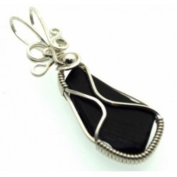 Whitby Jet Wire Wrapped Pendant Design 7
