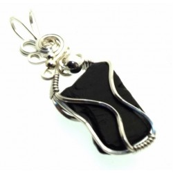 Whitby Jet Wire Wrapped Pendant Design 10
