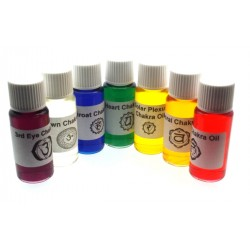 Full set of Seven 10ml Chakra Oils