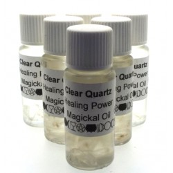 10ml Clear Quartz Gemstone Oil Healing Powers