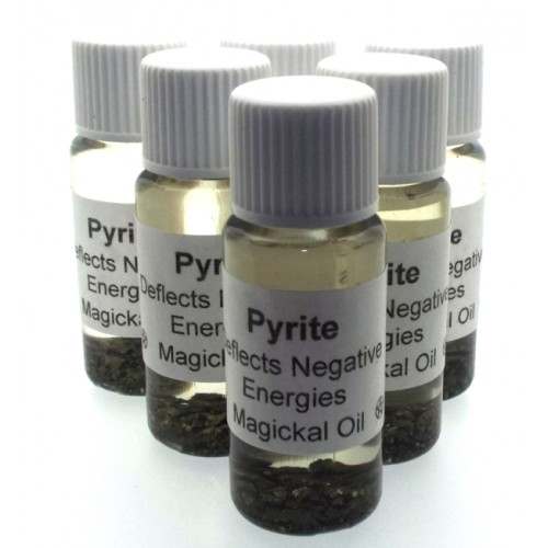 10ml Pyrite Gemstone Oil Deflect Negative Energy