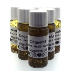 10ml Cinquefoil Herbal Spell Oil Wisdom Health and Power