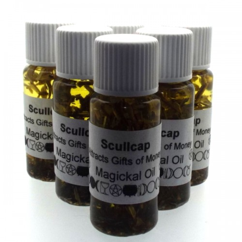 10ml ScullCap Herbal Spell Oil Attracts Wealth